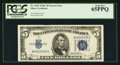 Small Size:Silver Certificates, Fr. 1653 $5 1934C Narrow Silver Certificate. PCGS Gem New 65PPQ.. ...