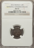 Mexico, Mexico: Revolutionary - National Congress 1/2 Real 1812 AU53NGC,...