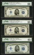 $5 Silver Certificate Sextuplet PMG Graded