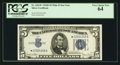 Small Size:Silver Certificates, Fr. 1654* $5 1934D Wide II Silver Certificate. PCGS Very Choice New 64.. ...