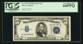 Small Size:Silver Certificates, Fr. 1652* $5 1934B Silver Certificate. PCGS Very Choice New 64PPQ.. ...