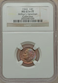 Roosevelt Dimes, 1960 10C MS67 ★ Full Bands NGC. Ex: Arthur L Gowman Collection. NGC Census: (21/0). PCGS Popu...