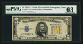 Small Size:World War II Emergency Notes, Fr. 2307* $5 1934A North Africa Silver Certificate. PMG Choice Uncirculated 63.. ...