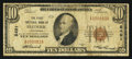 National Bank Notes:Wisconsin, Frederic, WI - $10 1929 Ty. 1 The First NB Ch. # 8491. ...
