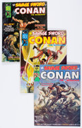 Magazines:Adventure, Savage Sword of Conan #1-100 Near Complete Range Magazine Box Group (Marvel, 1974-84) Condition: Average FN/VF....