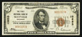 National Bank Notes:Wisconsin, Mayville, WI - $5 1929 Ty. 1 The First NB Ch. # 10653. ...