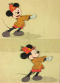 Animation Art:Production Cel, The Pointer Mickey Mouse Production Cel Setup (Walt Disney,1939)....