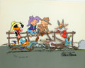 Animation Art:Limited Edition Cel, Chuck Jones Western Edition Signed Numbered Limited Edition Cel #55/100 (Warner Brothers, 1980)....