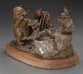 Bronze:American, JOFFA KERR (American , b. 1935). Wild About Art, 1997.Bronze with brown patina. 10 inches (25.4 cm) high on a 1-3/4inc...