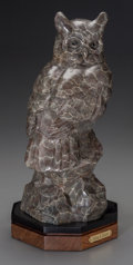 Bronze:Contemporary, GERALD BALCIAR (American , b. 1942). Give a Hoot, 2009.Patinated bronze. 12 inches (30.48 cm) high on a 1-1/2 inches (3...