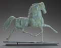 Miscellaneous, A METAL HORSE WEATHERVANE ON WOOD BASE, 20th century. 21 x 25 x4-1/4 inches (53.3 x 63.5 x 10.8 cm). PROPERTY FROM THE CO...