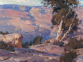 Fine Art - Painting, American:Contemporary   (1950 to present)  , XIANGYUAN JIE (American, 20th Century). Late Afternoon - SouthRiver. Oil on canvas. 18 x 24 inches (45.7 x 61.0 cm). Si...
