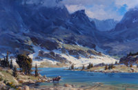 XIANGYUAN JIE (American, 20th Century) Solitude in the Wilderness Oil on canvas 20 x 30 inches (5