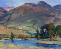 Fine Art - Painting, American:Contemporary   (1950 to present)  , XIANGYUAN JIE (American, 20th Century). Dusk Light on ParadiseValley. Oil on canvas. 16 x 20 inches (40.6 x 50.8 cm). S...