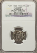 Argentina, Argentina: Tucuman Cob 2 Reales ND (1820-24) VF Details (MountRemoved) NGC,...