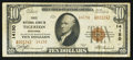 National Bank Notes:Wisconsin, Tigerton, WI - $10 1929 Ty. 2 First NB Ch. # 14150. ...