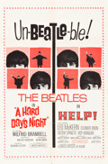 "Movie Posters:Rock and Roll, Beatles Combo Help! & A Hard's Night (United Artists, R-1965).One Sheet (27"" X 41"").. ..."