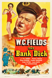 """The Bank Dick (Universal, 1940). One Sheet (27"""" X 41"""") Style C"""