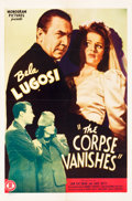 """Movie Posters:Horror, The Corpse Vanishes (Monogram, 1942). One Sheet (27"""" X 41"""").. ..."""