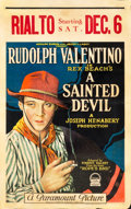 "Movie Posters:Drama, A Sainted Devil (Paramount, 1924). Window Card (14"" X 22"").. ..."