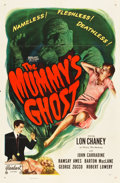 "Movie Posters:Horror, The Mummy's Ghost (Realart, R-1953). One Sheet (27"" X 41"").. ..."