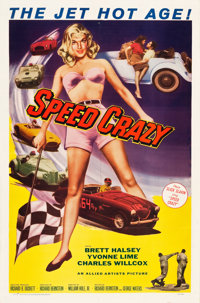 "Speed Crazy (Allied Artists, 1959). One Sheet (27"" X 41"")"