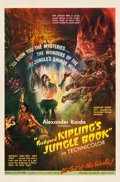 """Movie Posters:Adventure, Jungle Book (United Artists, 1942). One Sheet (27"""" X 41"""").. ..."""
