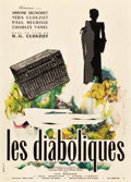 "Movie Posters:Foreign, Les Diaboliques (Cinedis, 1955). French Affiche (23"" X 32"").. ..."