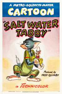 "Salt Water Tabby (MGM, 1947). One Sheet (27"" X 41"")"
