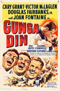 "Movie Posters:Action, Gunga Din (RKO, R-1949). One Sheet (27"" X 41"").. ..."