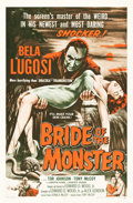 """Movie Posters:Horror, Bride of the Monster (Filmmakers Releasing, 1956). One Sheet (27"""" X41"""").. ..."""