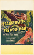 "Movie Posters:Horror, Frankenstein Meets the Wolf Man (Universal, 1943). Window Card (14""X 22"").. ..."