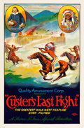 "Movie Posters:Western, Custer's Last Fight (Quality Amusement, R-1925). One Sheet (27"" X40.75"") Flat Folded.. ..."