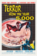 "Movie Posters:Science Fiction, Terror from the Year 5000 (American International, 1958). One Sheet(27"" X 41""). Flat Folded.. ..."
