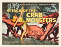 "Movie Posters:Science Fiction, Attack of the Crab Monsters (Allied Artists, 1957). Half Sheet (22""X 28.25"").. ..."