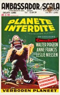 "Movie Posters:Science Fiction, Forbidden Planet (MGM, 1956). Belgian (13.5"" X 22"").. ..."