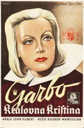 "Movie Posters:Drama, Queen Christina (MGM, 1933). Czech Poster (24.75"" X 37"").. ..."