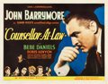 "Movie Posters:Drama, Counsellor at Law (Universal, 1933). Half Sheet (22"" X 28"").. ..."