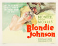 "Movie Posters:Drama, Blondie Johnson (Warner Brothers, 1933). Half Sheet (22"" X 28"")....."