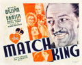 "Movie Posters:Drama, The Match King (First National, 1932). Half Sheet (22"" X 28"").. ..."