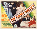 "Movie Posters:Mystery, The Ghost Walks (Chesterfield, 1934). Half Sheet (22"" X 28"").. ..."