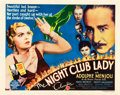 "Movie Posters:Mystery, The Night Club Lady (Columbia, 1932). Half Sheet (22"" X 28"").. ..."