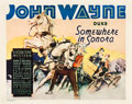 "Movie Posters:Western, Somewhere in Sonora (Vitagraph, 1933). Half Sheet (22"" X 28"").. ..."