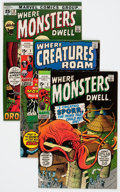 Bronze Age (1970-1979):Horror, Where Creatures Roam/Where Monsters Dwell Group (Marvel,1970s-'90s) Condition: Average VF-.... (Total: 53 Comic Books)