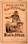 Books:Music & Sheet Music, [Minstrelsy]. Byron Christy and William E. Christy, editors. Christy's New Songster and Black Joker. New York: D...