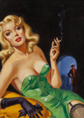 Pulp, Pulp-like, Digests, and Paperback Art, AMERICAN ARTIST (20th Century). Reckless Passion, paperbackcover, 1949. Oil on canvas. 17 x 12 in.. Not signed. The...(Total: 3 Items)