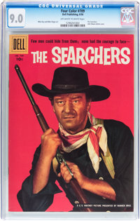 Four Color #709 The Searchers (Dell, 1956) CGC VF/NM 9.0 Off-white to white pages