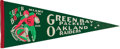 Football Collectibles:Others, 1968 Super Bowl II Green Bay Packers Pennant - Rare Variation! ...
