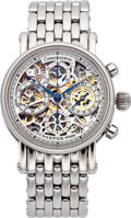 "Timepieces:Wristwatch, Chronoswiss Skeletonized ""Opus"" Chronograph With Date, No. 3059...."