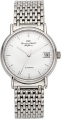 "Timepieces:Wristwatch, IWC ""Portofino"" Fine Steel Automatic With Date. ..."